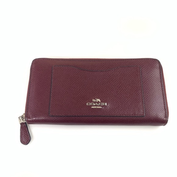 Coach Handbags - Coach Womens Wallet Zip Around Accordion Purple
